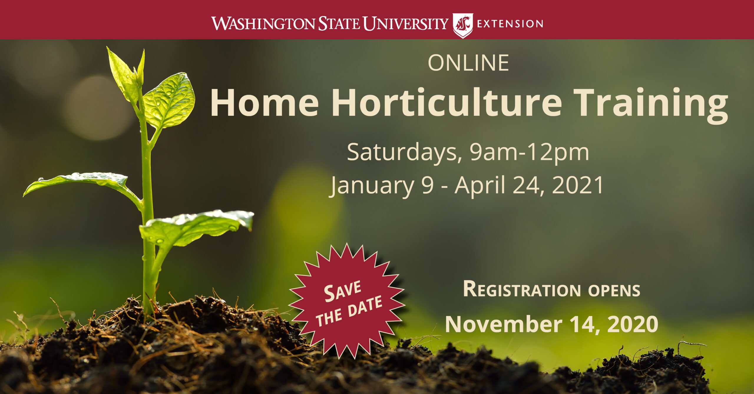 Online Home Horticulture Training Announcement