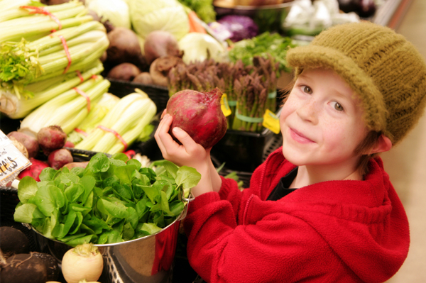 Child with produce