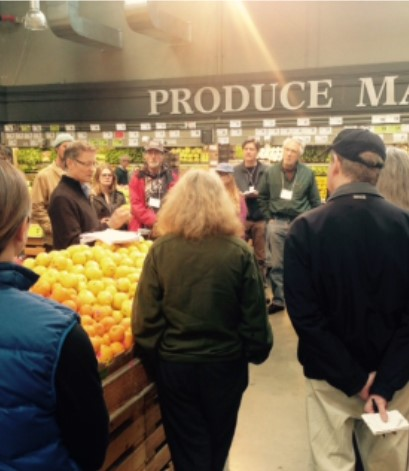 Group talking about Produce