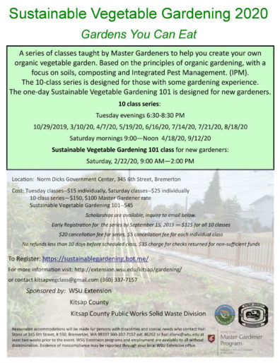 Sustainable Vegetable Gardening 2020