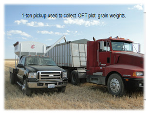 Pick-up and grain wieghing equipment