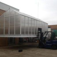 pre-built greenhouse deliver