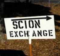 scion exchange sign