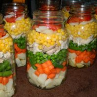 """quart jars of veggies and broth ready for canningfor"