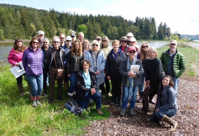 group at Snow-Salmon Cr restoration
