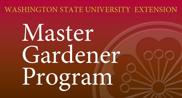 Master Gardener Program artwork with MG flower logo in background.