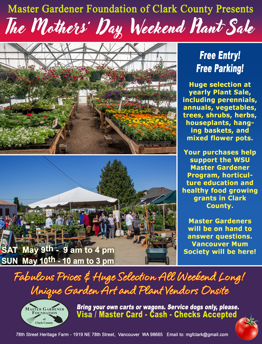 MG Foundation Plant Sale Poster 2020