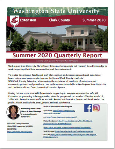 Clickable link for PDF of 2020 Summer Quarterly Report