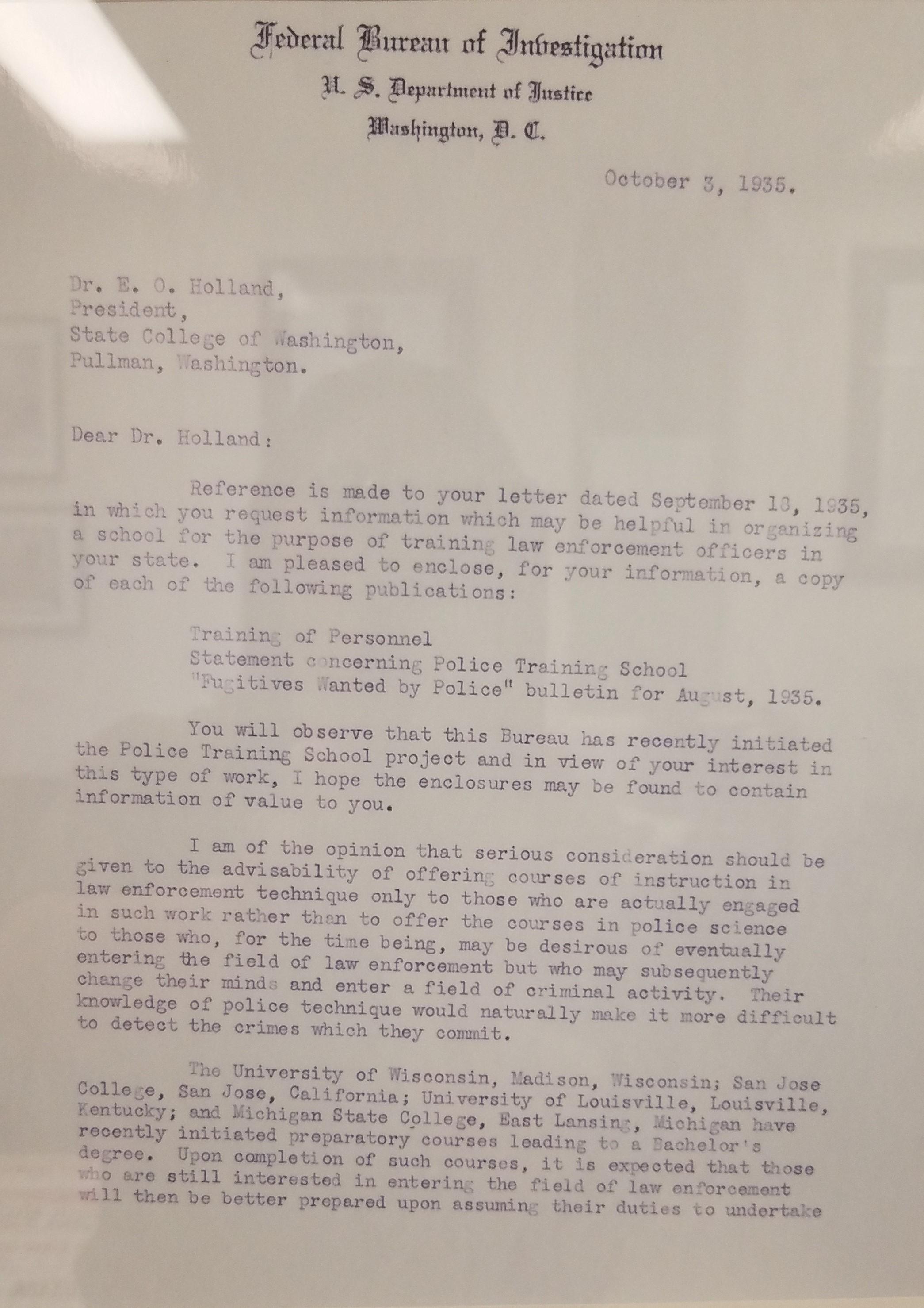 Federal-letter Sample College Application Essay Criminal Justice on