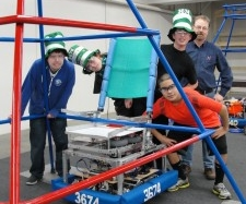 4-H youth at State FIRST Robotics competition.