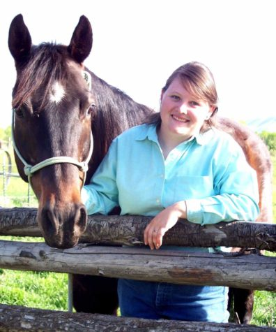Callie Bailey and her horse