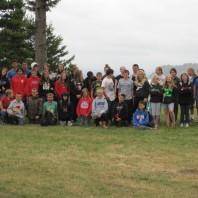 Group of 4-H members at camp