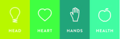 4-H head, hands, heart, health logos