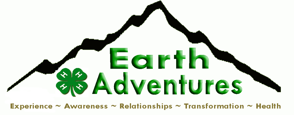 4h EARTH Adventures logo with tag line brown