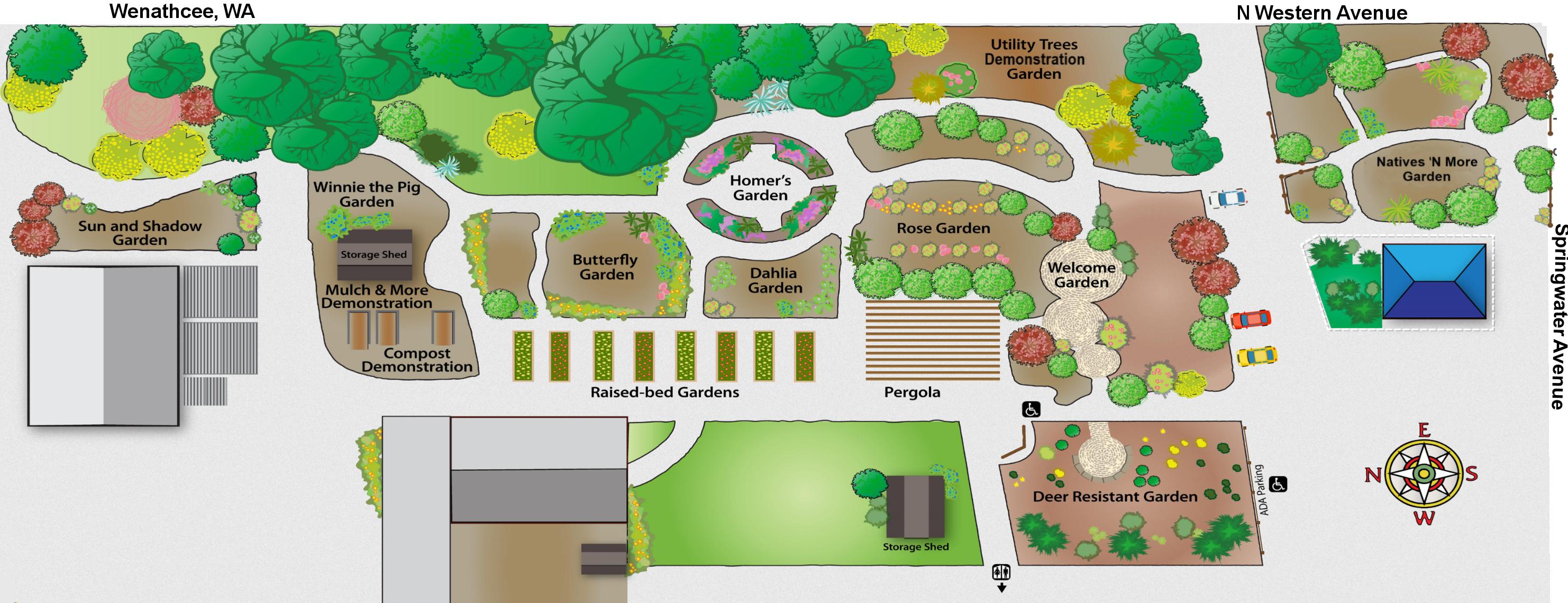Community Education Garden map