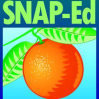 Federa USDA logo for SNAP-Ed bright orange fruit