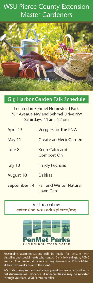 Master Gardener Events and Workshops | Pierce County