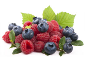 Picture of blueberries and raspberries