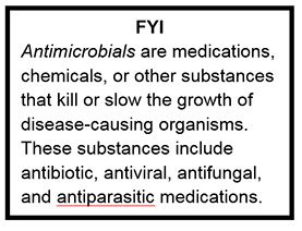 Text box about antimicrobials