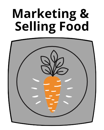 Marketing & Selling Food Button