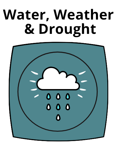Water, Weather & Drought Button