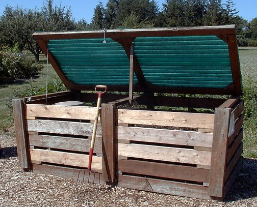 large two bin compost system