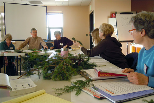 Master Gardeners in a classroom