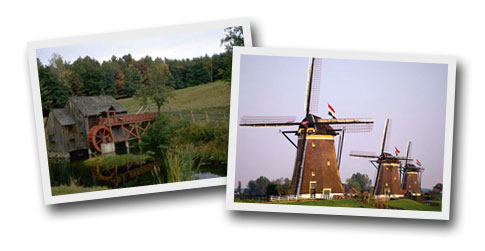 Water Mill and Windmill
