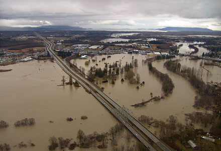 Nooksack River Flooded