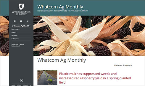 Whatcom Ag Monthly image of website