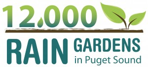 12000 Rain Garden logo with link to map of rain gardens