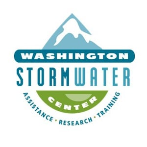 Washington Stormwater Center logo link to www.wastormwatercenter.org/raingardens