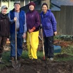 Clallam Co. Master Gardeners at rain garden event