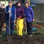 Clallam Co. Master Gardeners at rain garden event