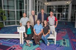 Front row:Patsy Warnock, Susan Kerr, Janet Schmidt. Back row: Don McMoran, Doug Warnock, Steve van Vleet, Aaron Esser.