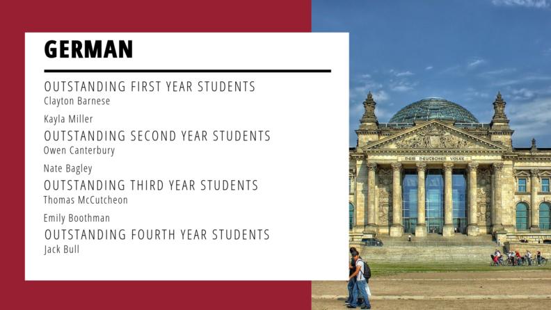 """""""German Outstanding Students."""""""