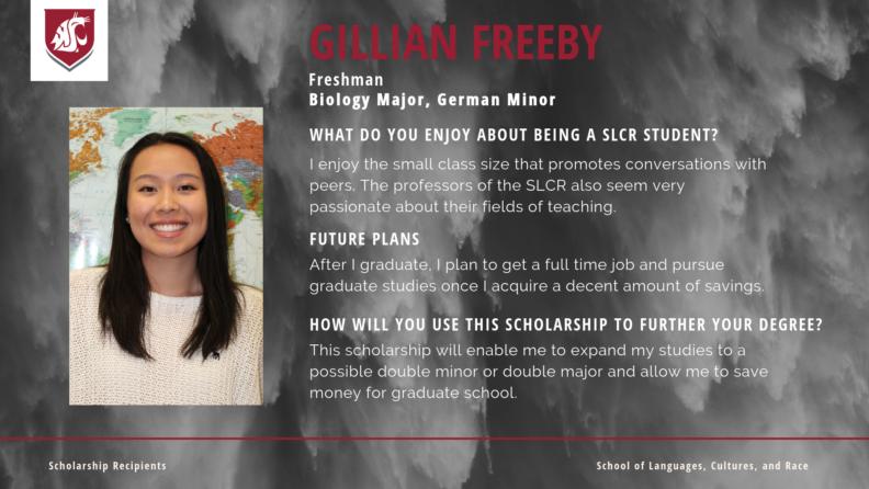 """""""Gillian Freeby."""""""