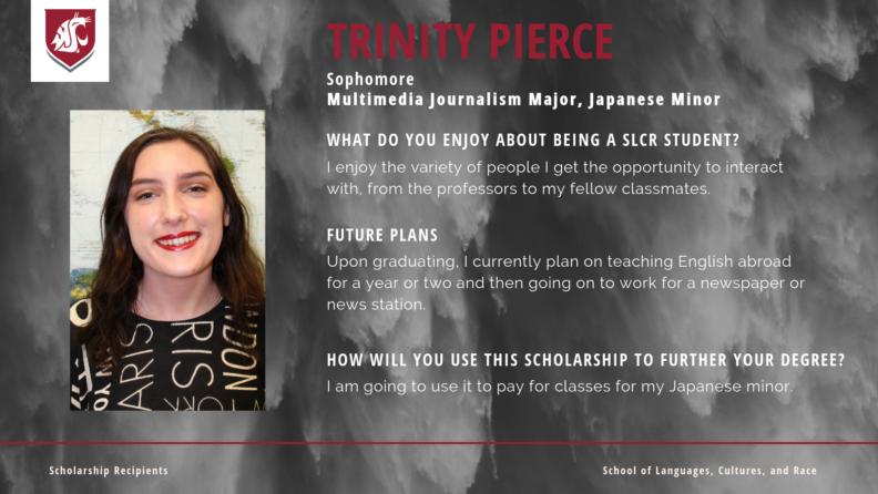 """""""Trinity Pierce."""""""