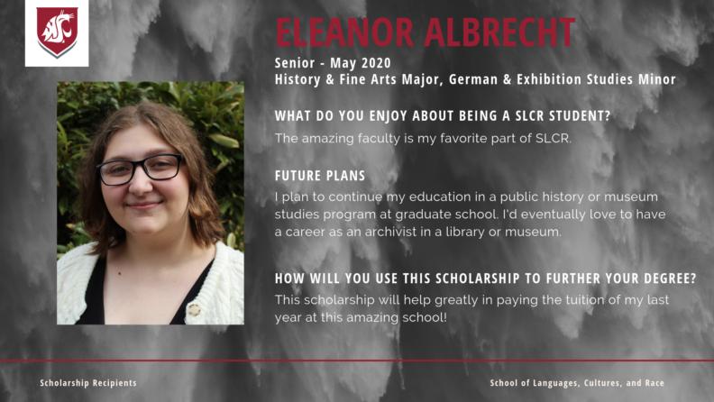 """""""Eleanor Albrecht."""""""