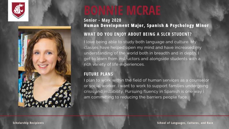 """""""Bonnie McRae."""""""