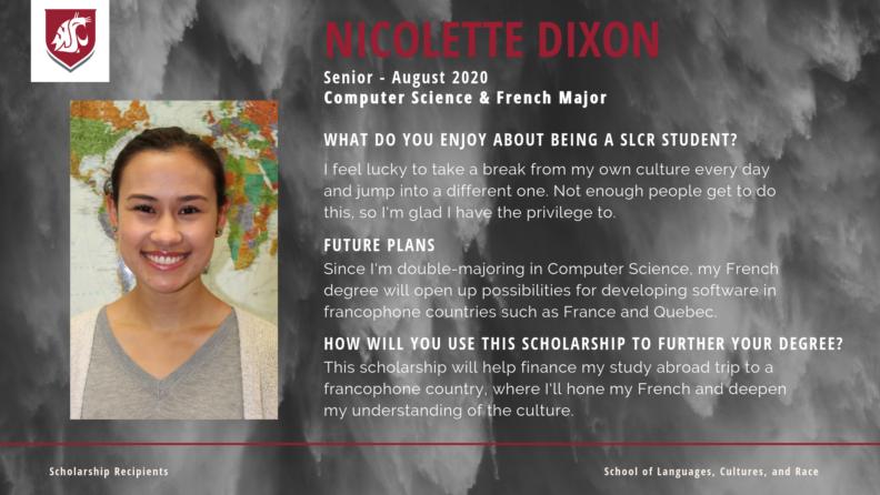 """""""Nicolette Dixon."""""""