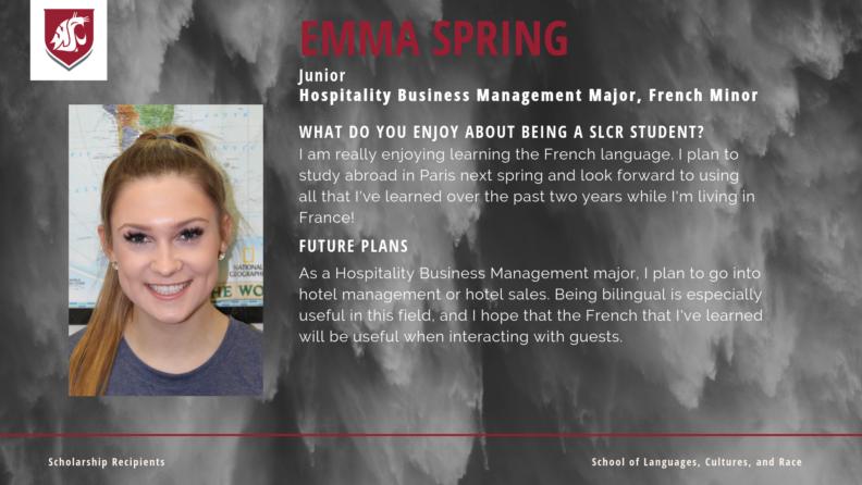 """""""Emma Spring."""""""