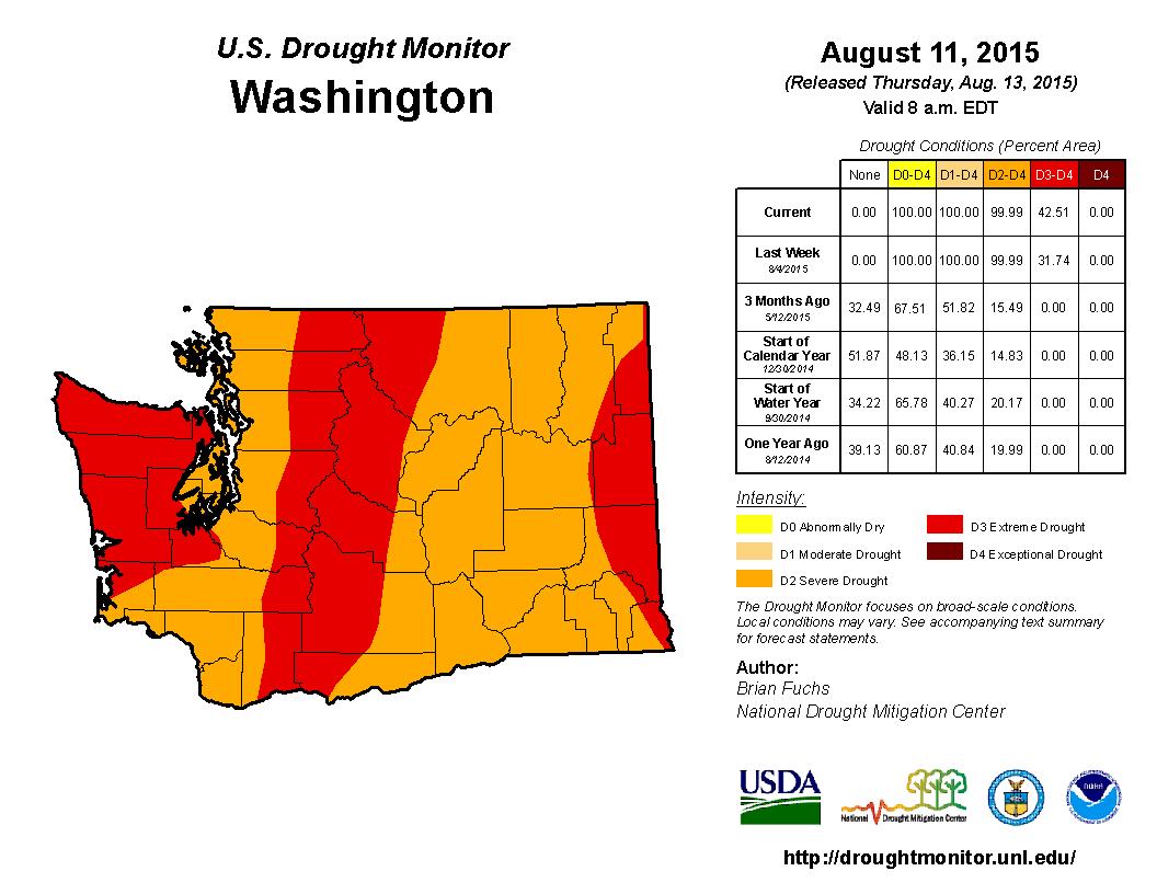 Washington State University - Us weather drought map