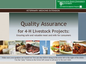 Quality Assurance for 4-H Livestock Projects