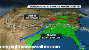 thunderstorm forecast on weather.com on March 2, 2012