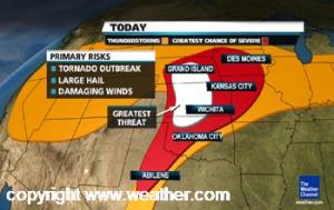 thunderstorm forecast on weather.com on April 14, 2012