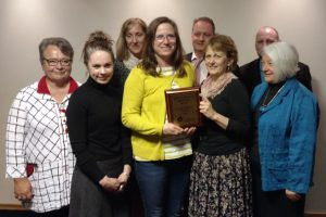 NACDEP project team with award in hand
