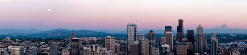 Seattle sunset skyline