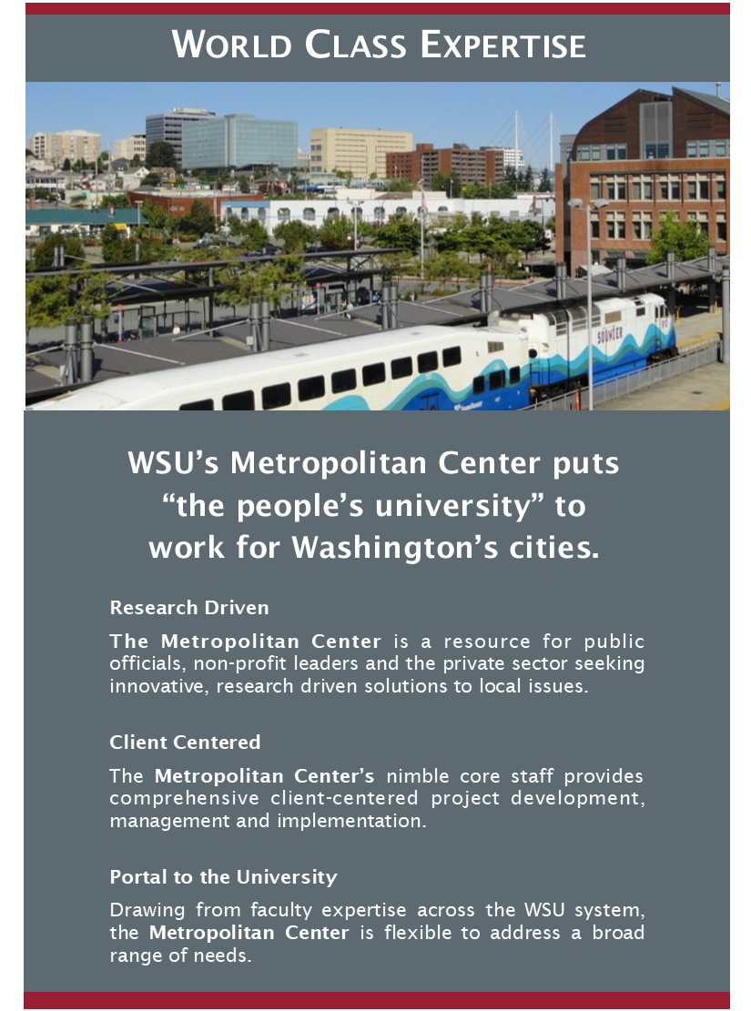 "Metro Center flyer: ""World Class Expertise"""