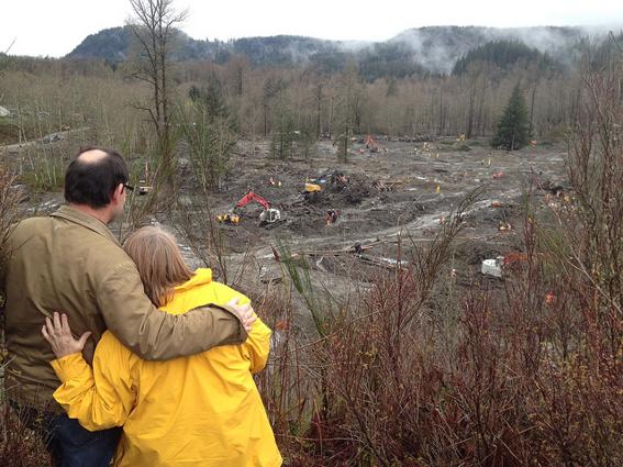 Landslide site